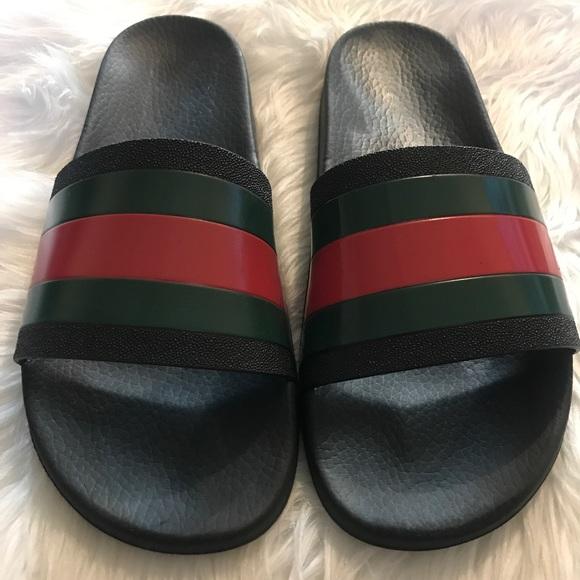 7960e7e5af84e Gucci Other - Mens Gucci Rubber Slide Sandals Size 10!